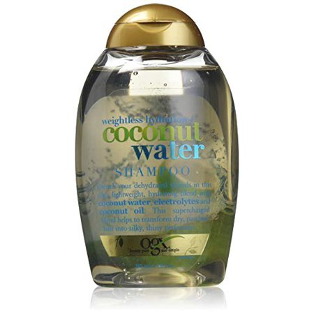 OGX Weightless Hydration + Coconut Water Shampoo, 13 Ounce Bottle, ,  Lightweight Hydrating Formula Sulfate-Free Surfactants