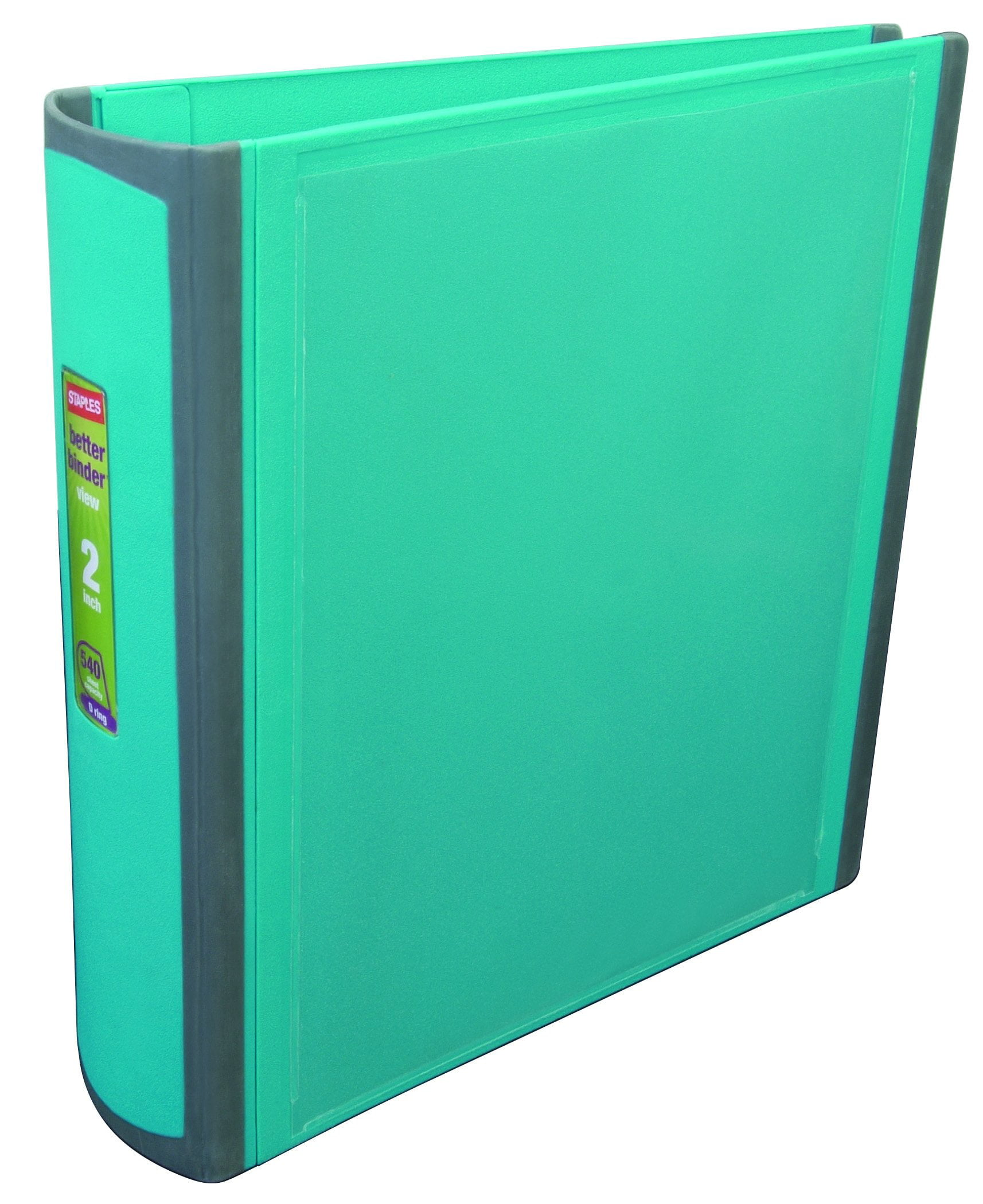 staples better 2 inch d 3 ring view binder teal 13470 cc