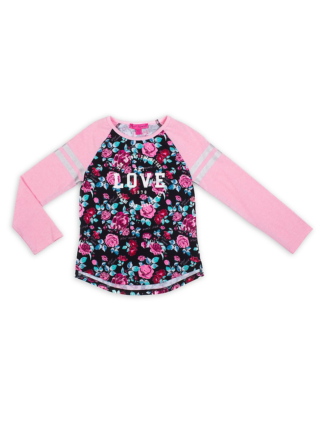 Girl's Love Floral Knit Top