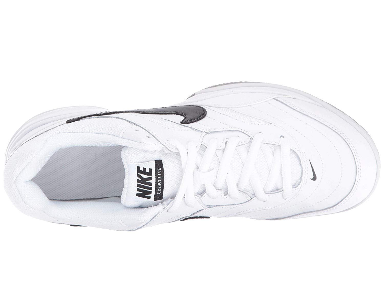 Nike - Nike AH9067-100  Mens Court Lite White Black Medium Grey Tennis  Sneakers - Walmart.com cbc2f9f10
