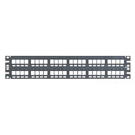 "Panduit NetKey Flush Mount Modular Patch Panel - Patch panel - 2U - 19"" - 48 ports"