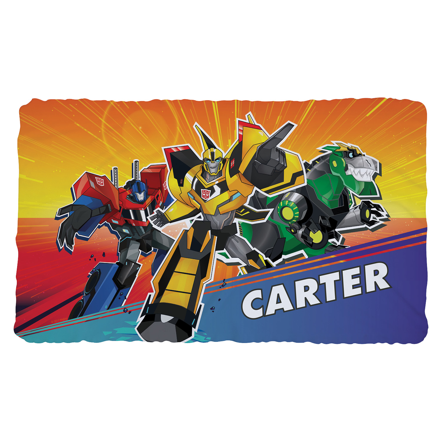 Personalized Kids Fuzzy Blanket - Transformers Robots in Disguise