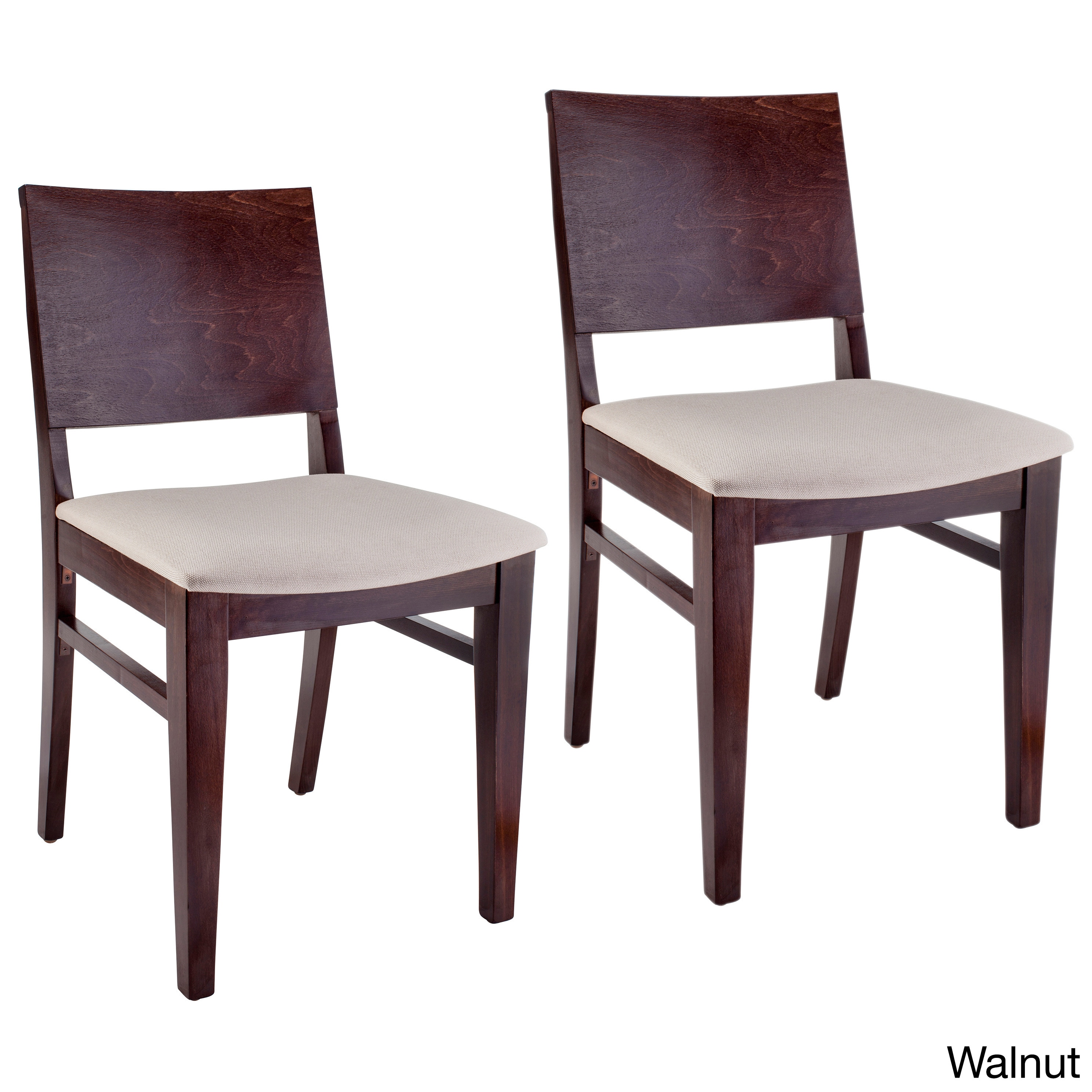 Beechwood Mountain LLC Copenhagen Black Wood Dining Chairs (Set of 2) by Overstock