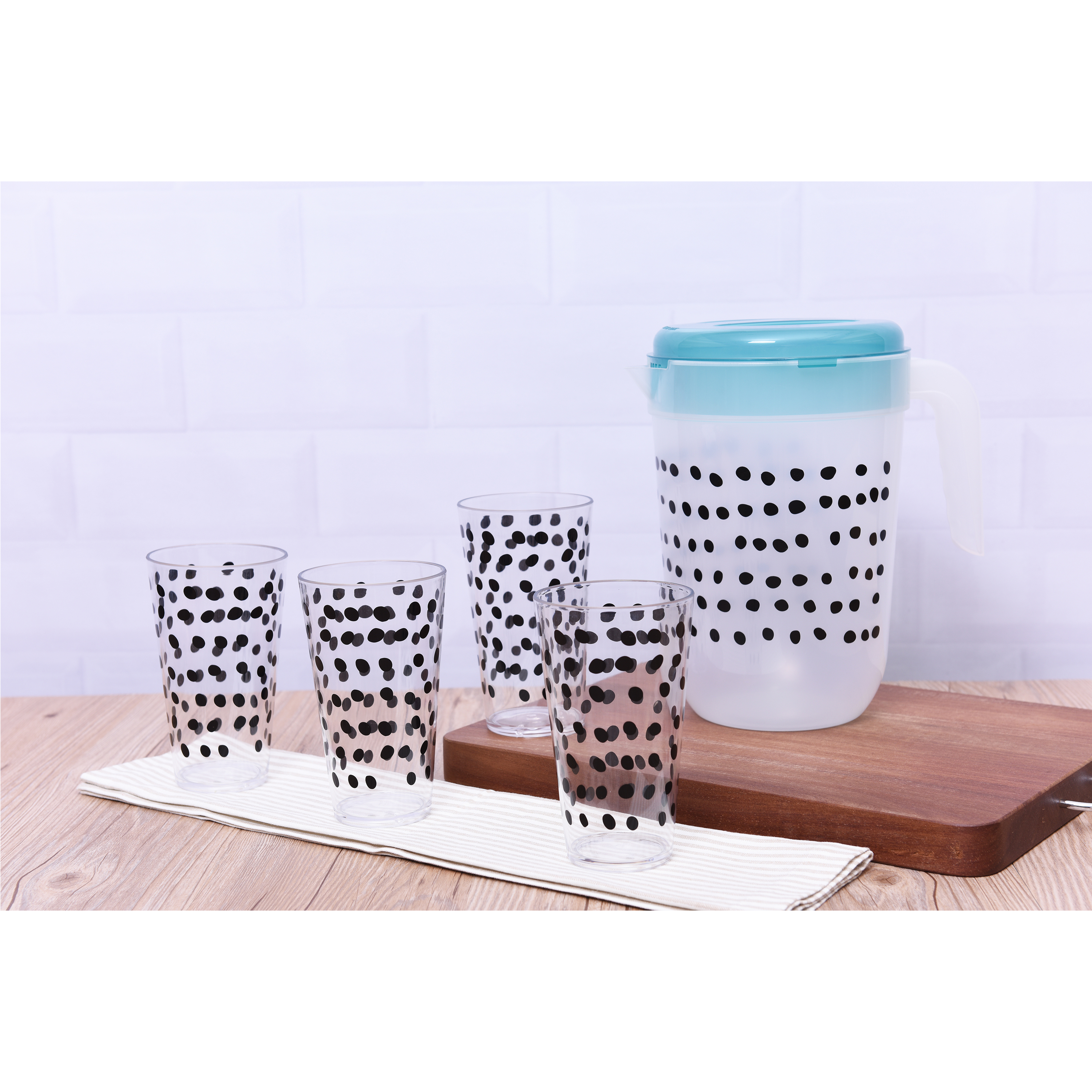 Mainstays 5-Piece Sprinkle Tumbler and 1 Gallon Pitcher Set, Walmart Exclusive