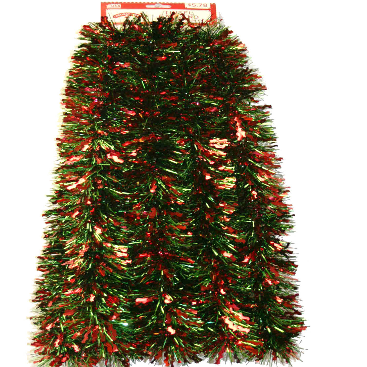 15' Red and Green Wiggle Christmas Garland