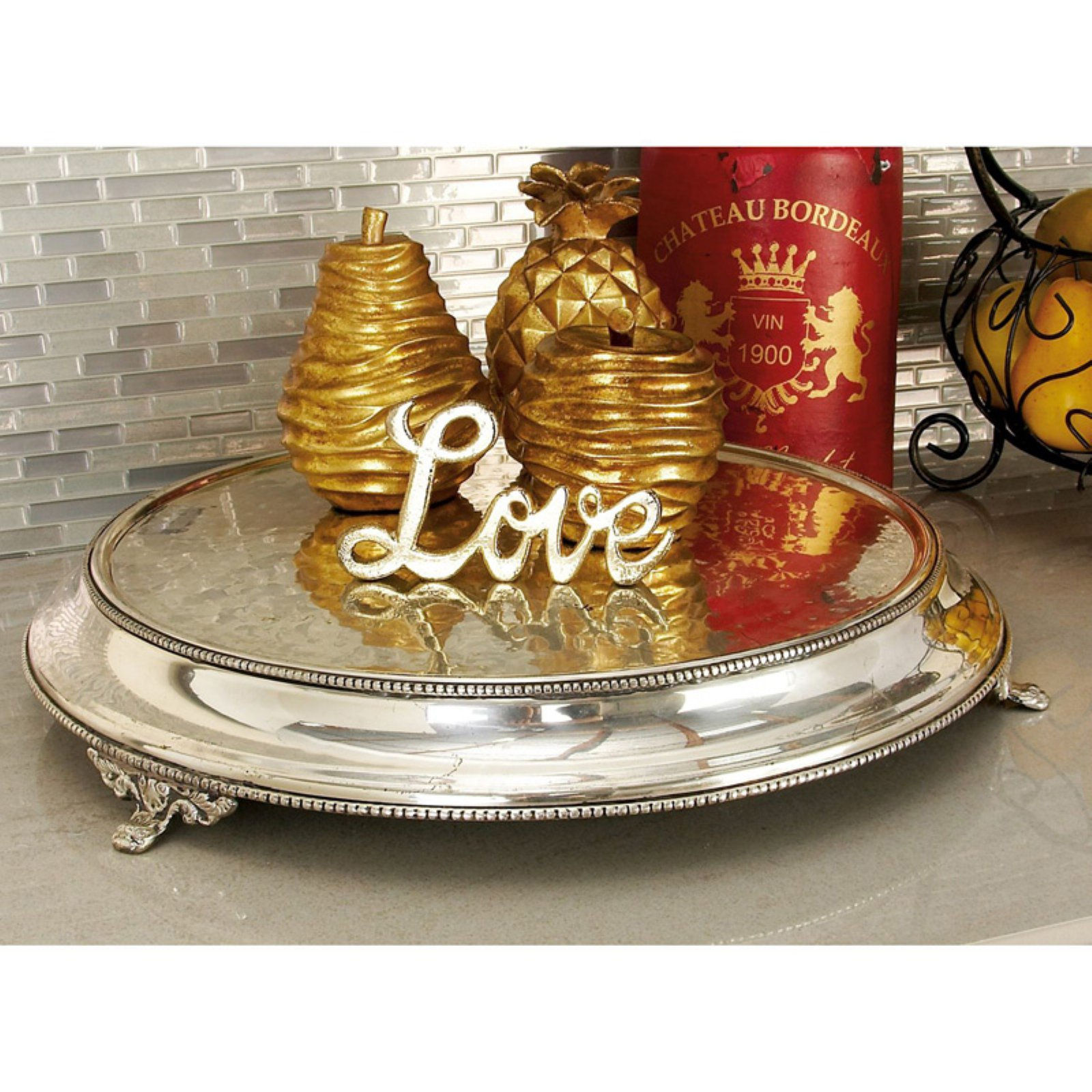 Stainless Steel Silver Plated Cake Stand With 15 Inches Diameter