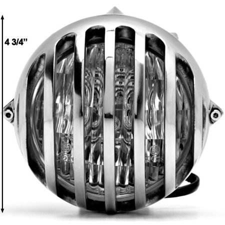 "4 3/4"" Chrome Round Motorcycle Headlight Light For Vespa Sport Sprint Rally Primavera Grande - image 5 of 6"