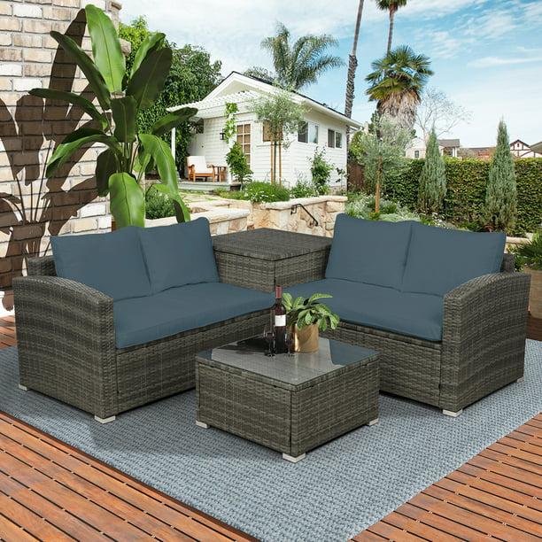Outdoor Conversation Set Btmway 4, Outdoor Patio Furniture Set