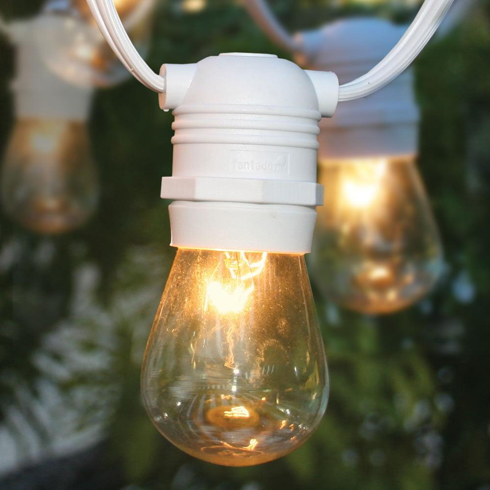 Commercial lighting 108 top reviews 24 socket outdoor commercial string bulbs s14 set light 54 ft white cord w e26 medium base weatherproof aloadofball Choice Image