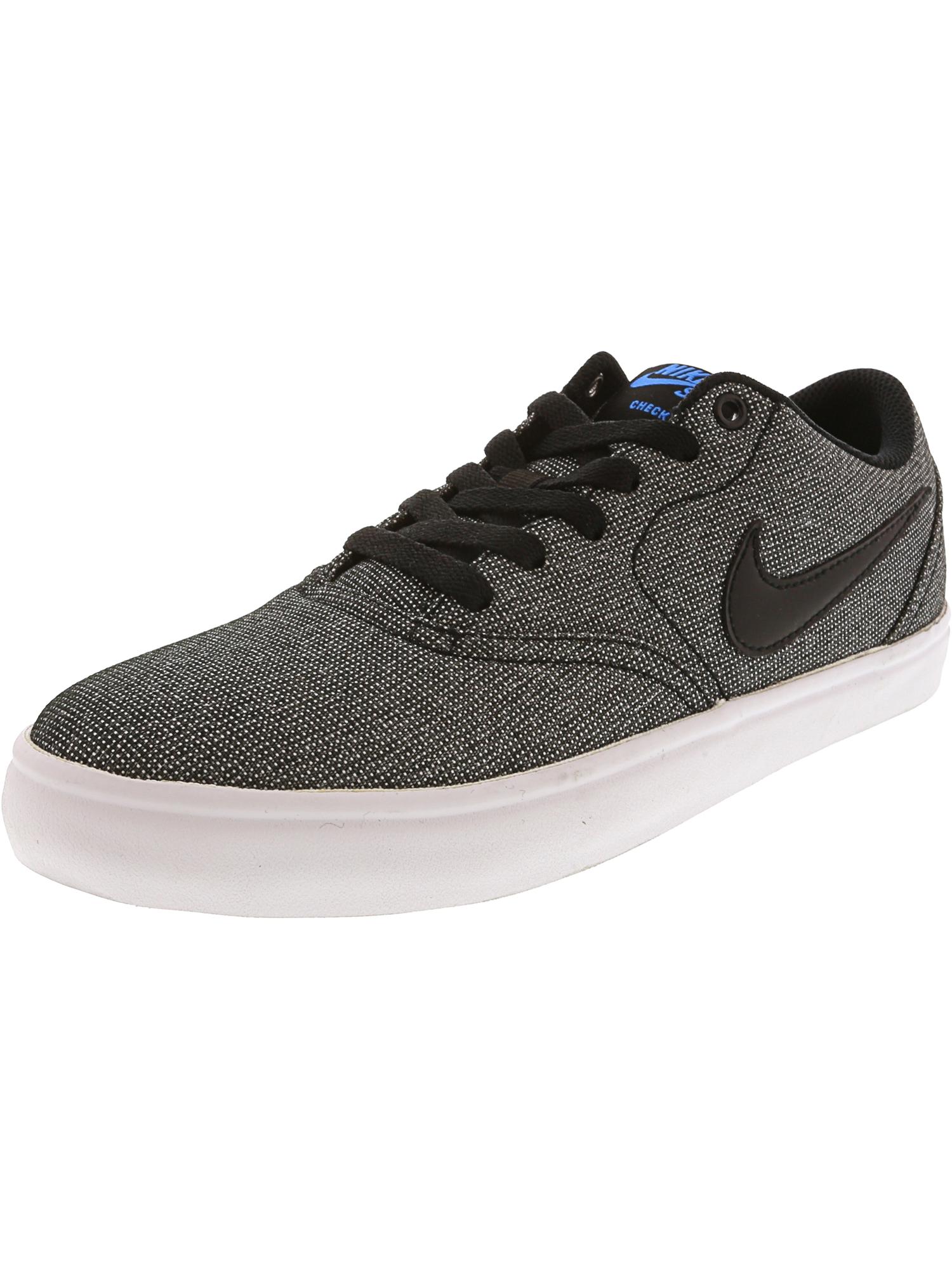 best website e9763 85b10 Nike Sb Check Solar Canvas Black  - White Photo Blue Ankle-High  Skateboarding Shoe 8.5M 7M