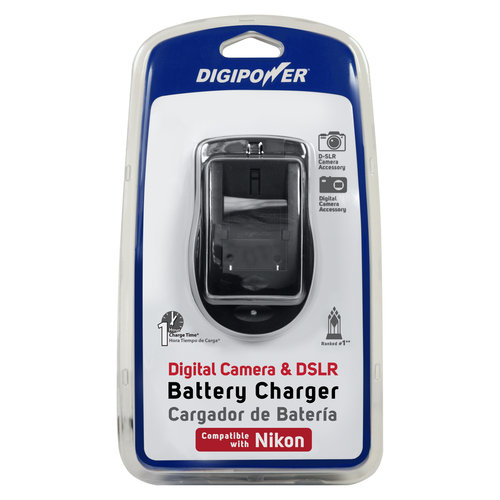 DigiPower QC-500NK Travel Battery Charger for Nikon Compact and DSLR Cameras