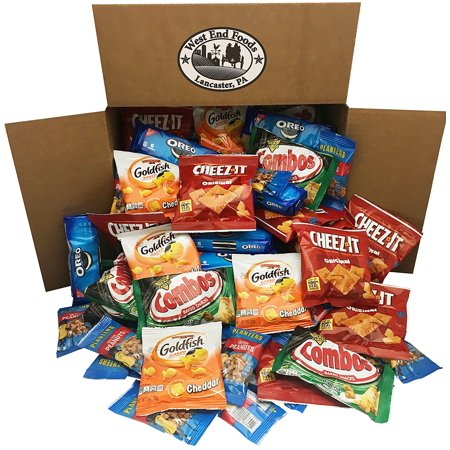 Office Snacks Care Package Bundle Assortment Bulk Sampler, Variety Pack of 99, Crackers, Cookies, Combos, and Nuts