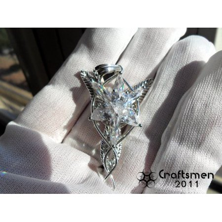 Craftsmen Silver-like Lord of the Ring Silver-like Arwen Evenstar Elf Necklace Pendant pure Silver-like necklace fairy princess, Fine or Fashion:.., By BHM (Lord Of The Rings Princess)