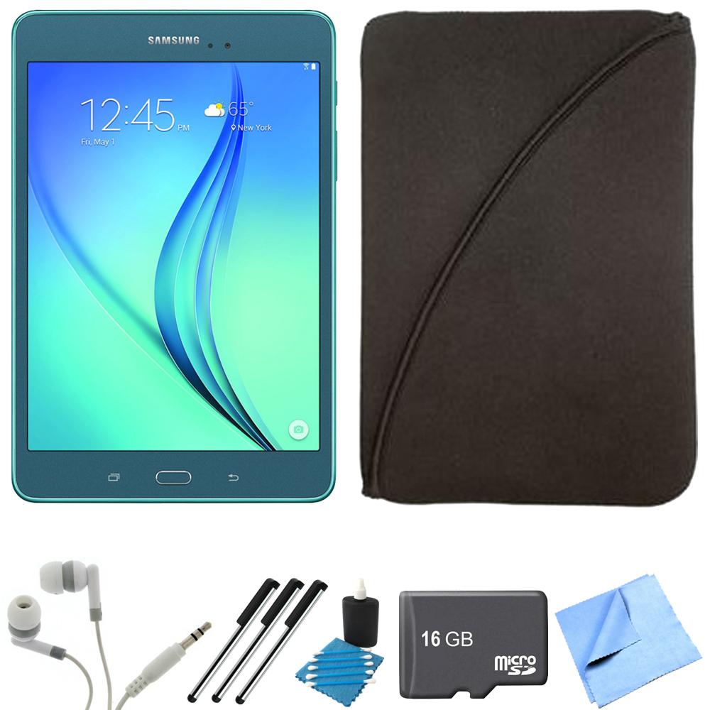 Samsung Galaxy Tab A 8-Inch Tablet (16 GB, Smoky Blue) 16GB Memory Card