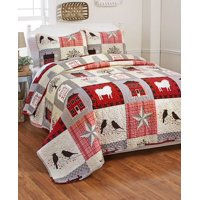 Oversized Homestead Patchwork Bedding Quilt Set - Set of 3