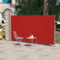 """Patio Terrace Side Awning Red 5'10""""x9'10"""""""
