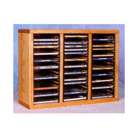 18.75 in. CD Storage Rack (Honey Oak)