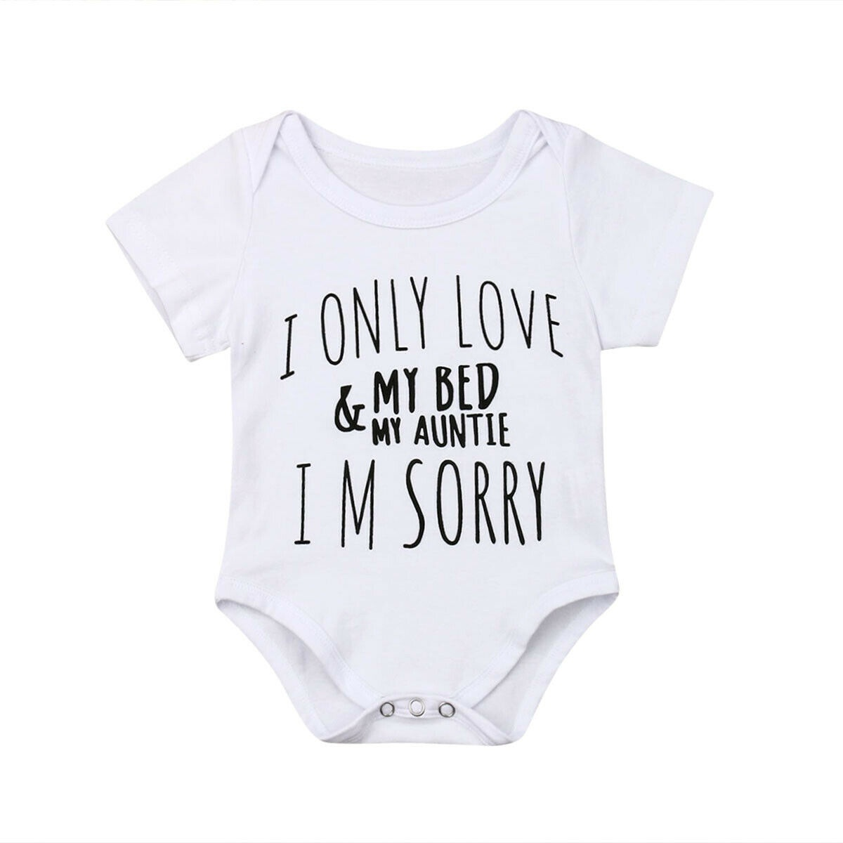 VinMea Baby Bodysuits Funny Short Sleeve Jumpsuit Clothes Outfits I Donut Care for Sweet Baby Girls /& Boys 0-18 Months