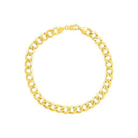 Men's Beveled Link Bracelet in 10kt Gold