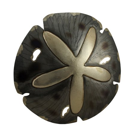 Sparkling Glossy Metal Sand Dollar Wall Sculpture 18 Inch