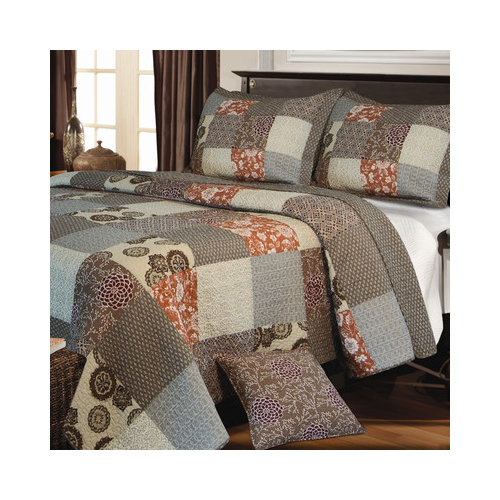 Bundle-25 Greenland Home Fashions Stella Bedding Collection (2 Pieces)