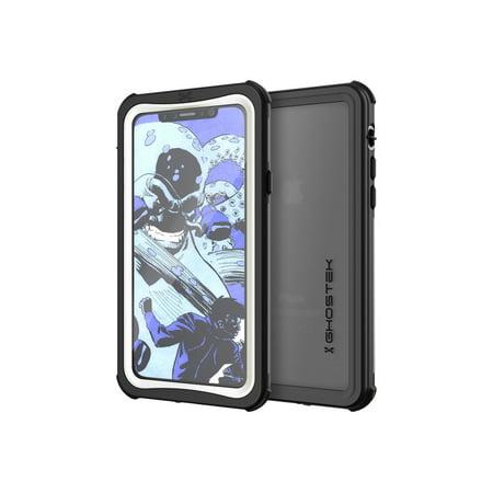 iPhone X Waterproof Case, Ghostek Nautical Series Full Body Shockproof Armor Design | Dustproof Snowproof Dirtproof Underwater Swimming Diving Floating Slim Fit Supports Wireless Charging | White