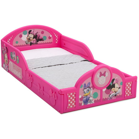 Disney Minnie Mouse Plastic Sleep and Play Toddler Bed by Delta Children (Toddler Car Bed Girl)