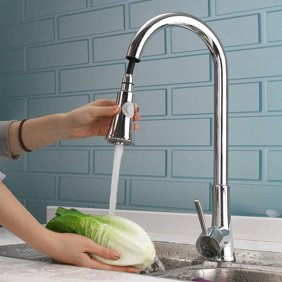 EZ-FLO 10389 Kitchen Faucet with High Arc Pull-Down Spray, One-Handle,  Brush Nickel
