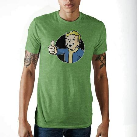 Fallout Vault Boy Men's Heather Green - Fallout 3 Unique Apparel