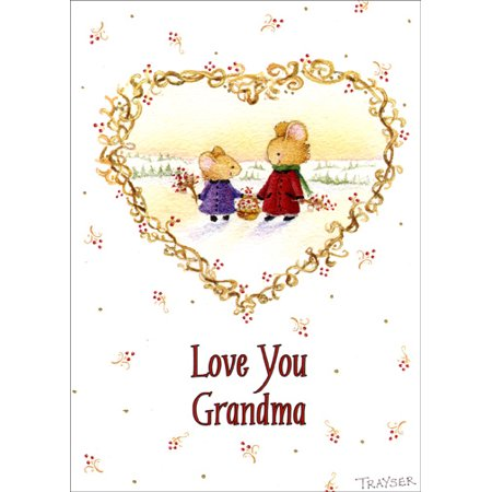 Recycled Paper Greetings Love Your Grandma Christmas Card](Mothers Day Cards For Grandma)