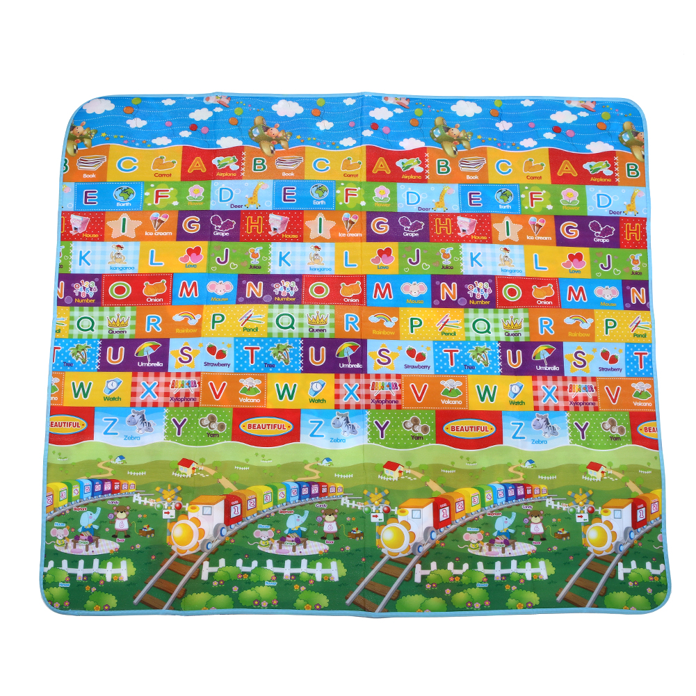 Cartoon Car Baby Crawling Mats Game Blanket Floor Playmats Kids Infant Child Activity Round Rug,27.6x27.6IN