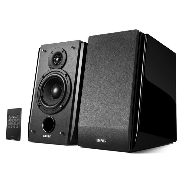 Edifier R1850DB Active Bookshelf Speakers with Bluetooth and Optical Input - 2.0 Studio Monitor Speaker - Built-in Amplifier with Subwoofer Line Out - Walmart.com - Walmart.com