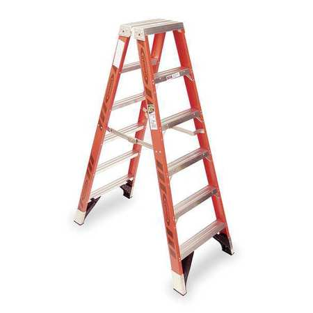 Werner Twin Stepladder Fiberglass Iaa 6ft T7400 T7406