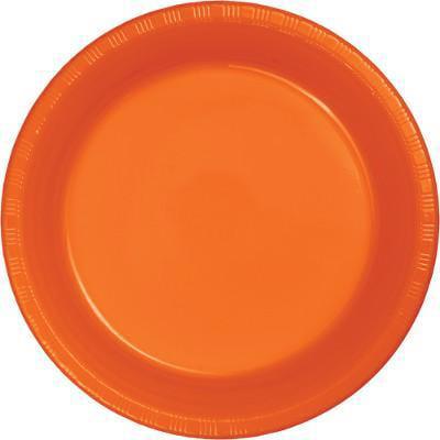 Creative Converting Sunkissed Orange Plastic Banquet Plates, 20 ct - Orange Plastic Plates