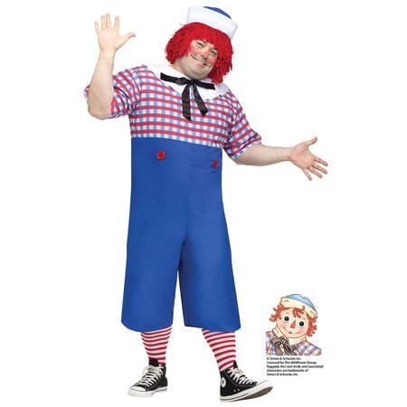 Plus Size Mens Raggedy Andy Halloween (Andy's Halloween Costume Office)