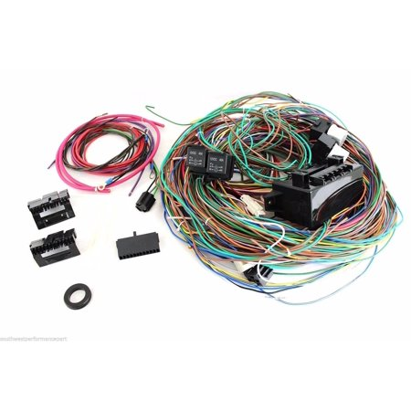 Excellent New 12V 24 Circuit 15 Fuse Street Hot Rat Rod Wiring Harness Wire Wiring Digital Resources Sapredefiancerspsorg