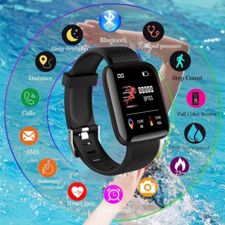 Fitness Tracker HR, Activity Tracker Watch with Heart Rate Monitor, Waterproof Smart Fitness Band with Step Counter, Calorie Counter, Pedometer Watch for Kids Women and