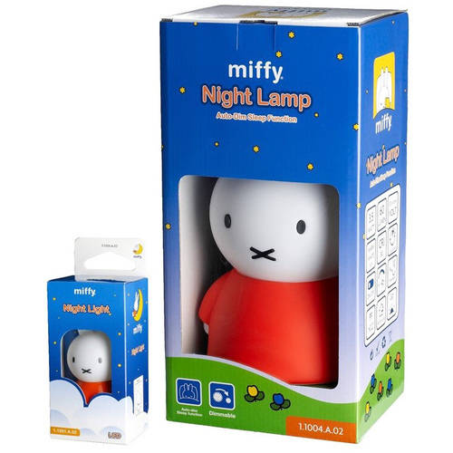 Miffy Bundle Pack, Orange Dimmable Night Lamp and Night Light