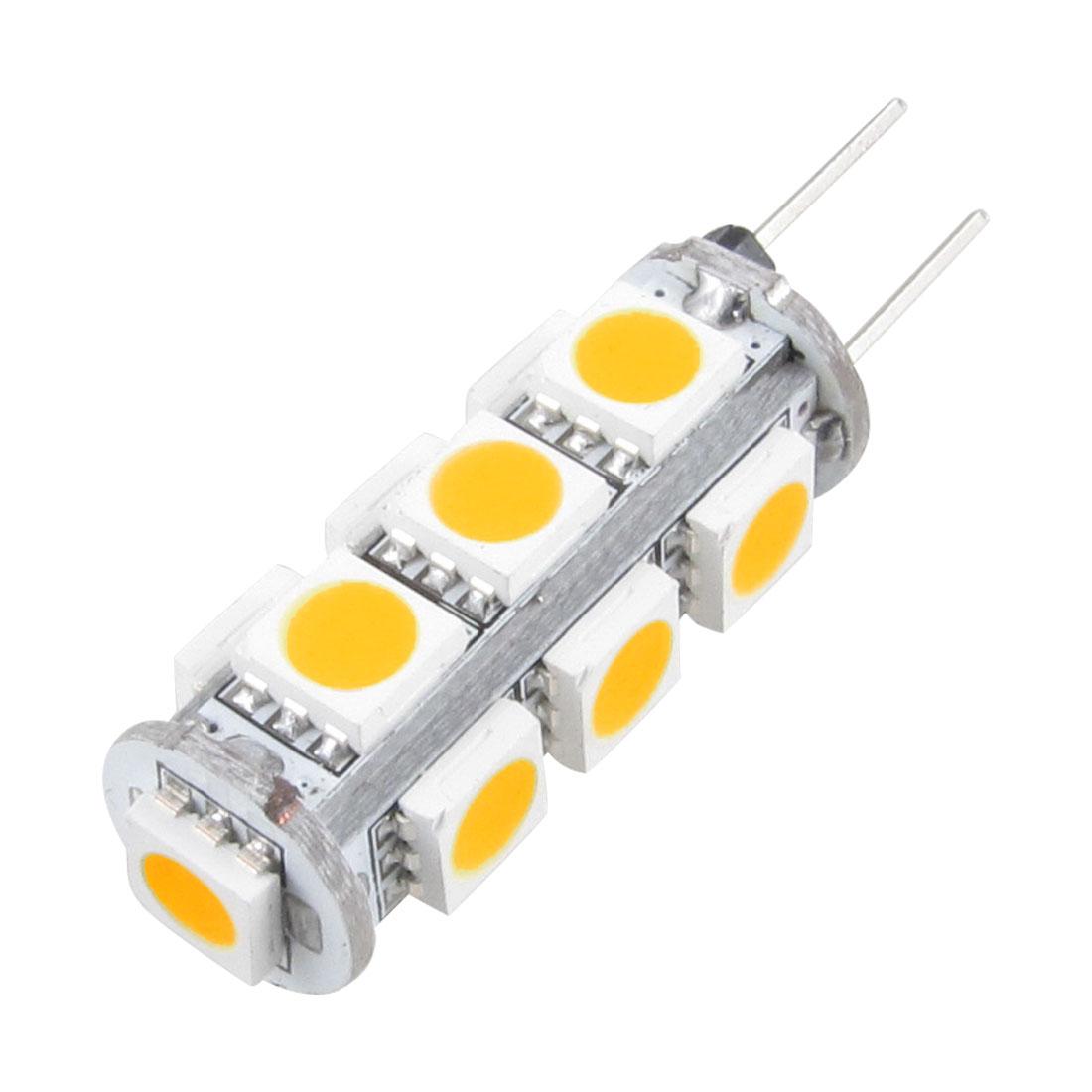 Unique Bargains Unique Bargains Warm White G4 13 5050 SMD LED Car Spot RV Boat Light Lamp Bulb 12v
