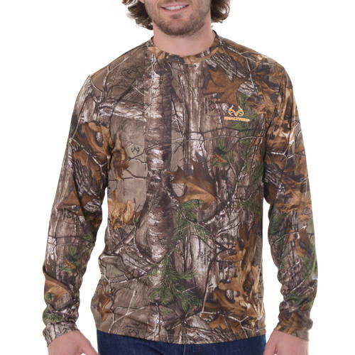 Men's Long Sleeve Camo Performance Tee Breakup Country by INTRADECO