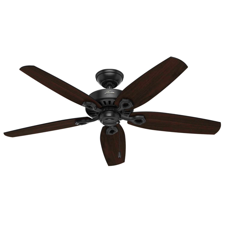 Builder Matte Black Ceiling Fan