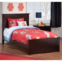 Leo & Lacey Twin Panel Bed in Espresso