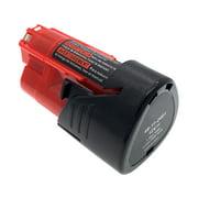New 12V 12 Volt Red Lithium Battery Pack For Milwaukee 48-11-2401 M12