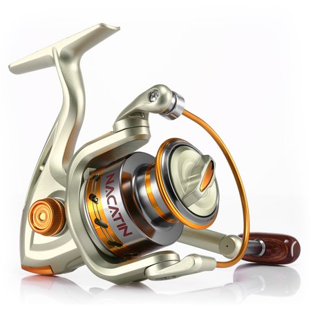 NACATIN Spinning Reel Fishing Gear Fixed Spool Novice Beginner Angler Saltwater Freshwater Ball