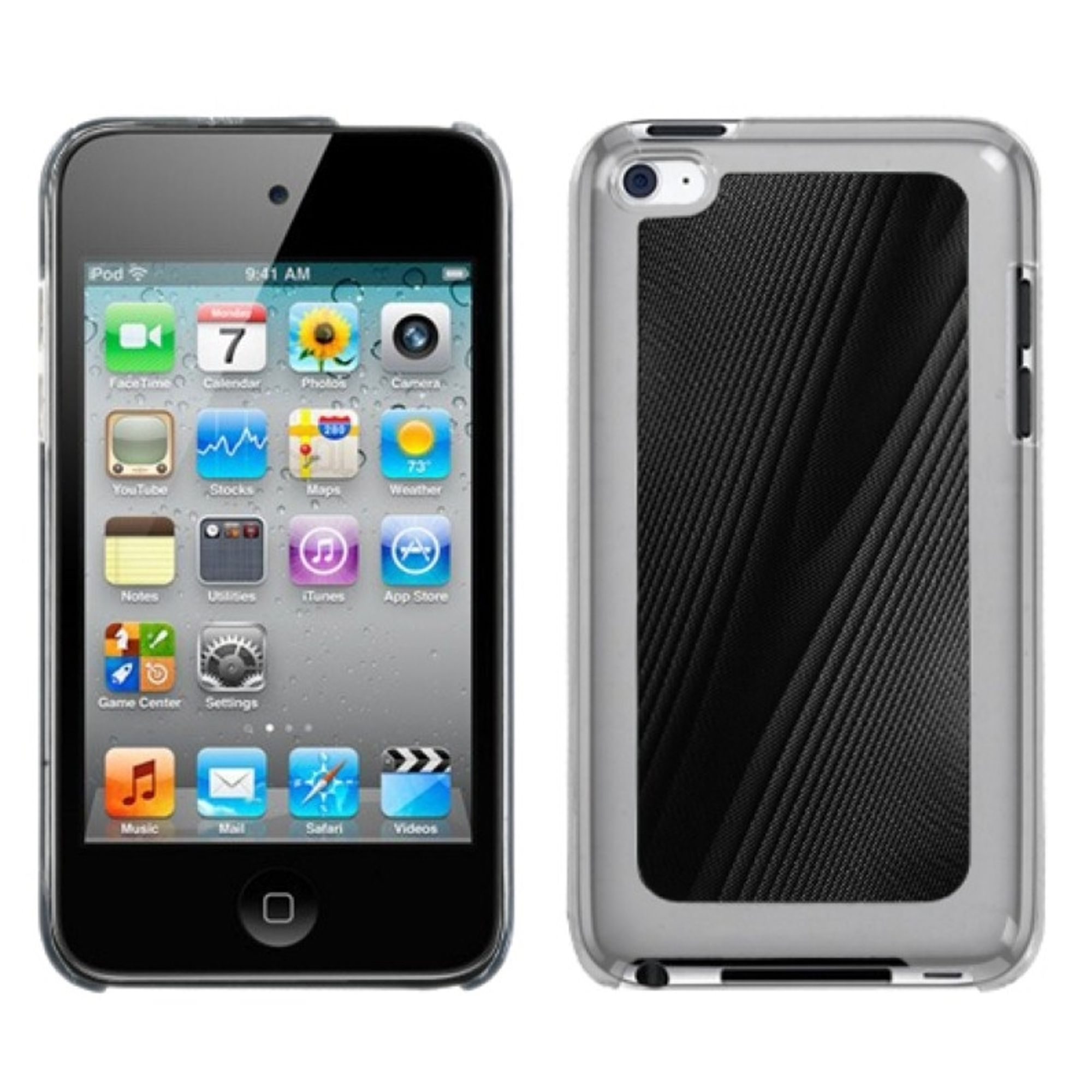 Insten Black Cosmo Back Case for APPLE: iPod touch (4th Gen)
