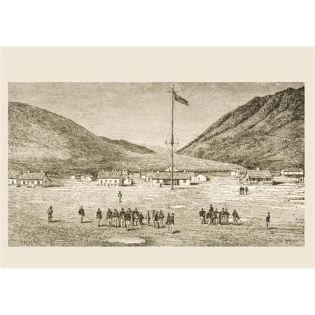 Posterazzi DPI1839483 Fort Douglas Camp & Red Buttes Ravine Near Salt Lake City, Utah In 1870S From American Pictures Drawn with Pen & Pencil by Rev Samuel Manning Circa 1880 Poster Print, 17 ()