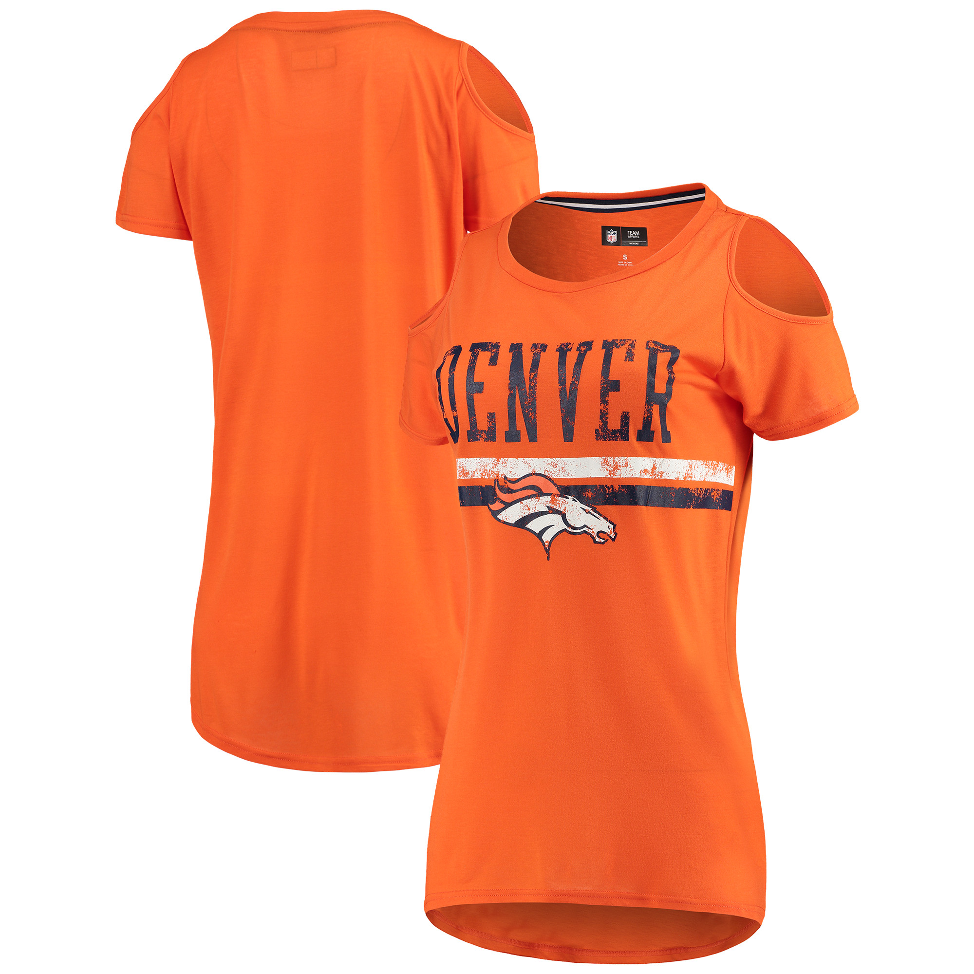 Denver Broncos G-III 4Her by Carl Banks Women's Clear the Bases Scoopneck T-Shirt - Orange