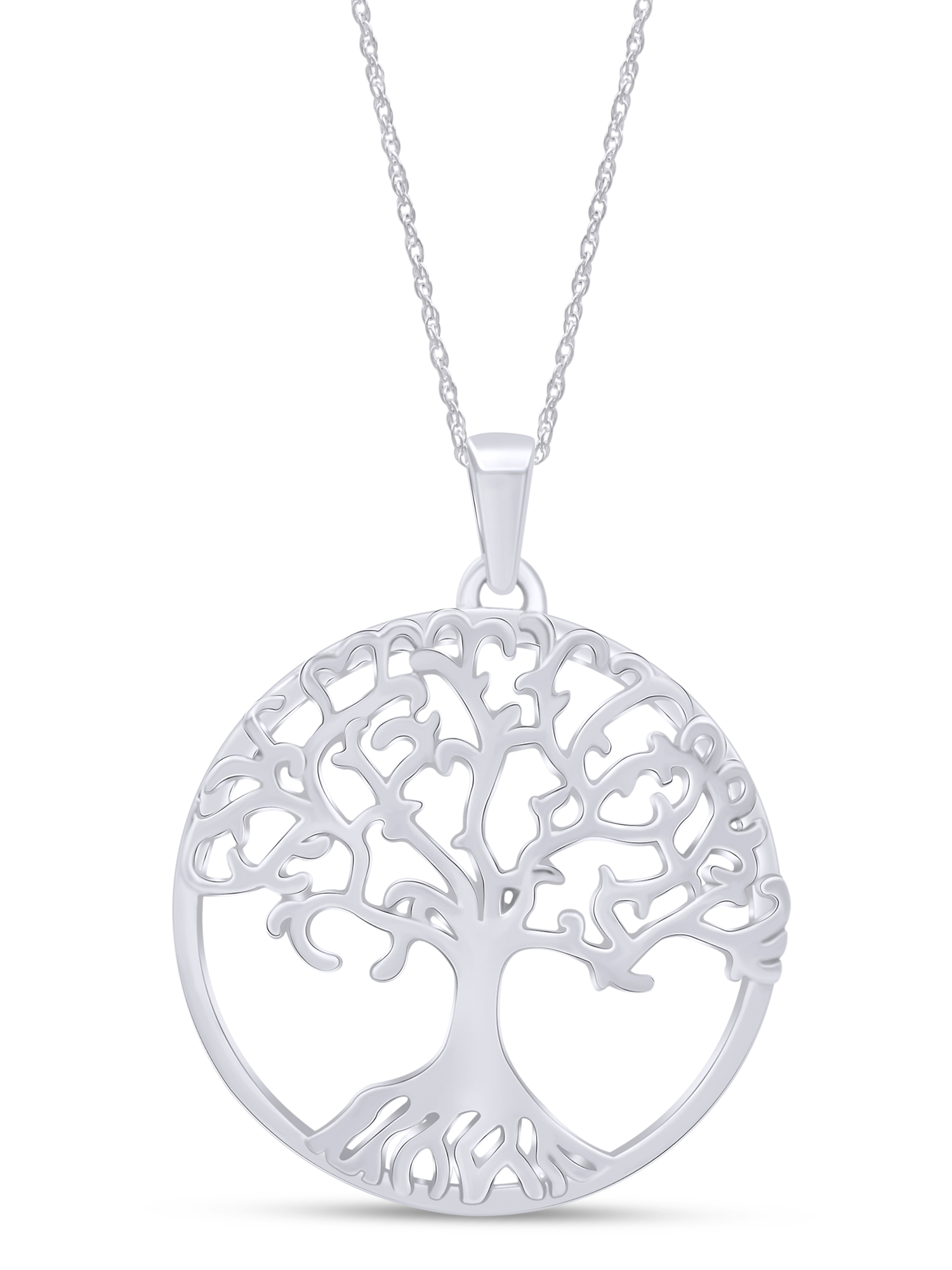 Tree of Life Necklace Tree Jewelry Botanica Necklace Sterling Silver Tree Necklace