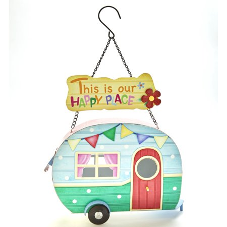 Image of Camper Hanging Birdhouse - This is Our Happy Place - Ready to Hang