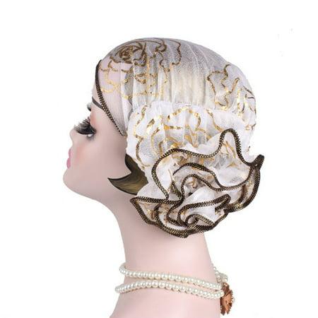 KABOER  New Fashion Ruffle Lace Head Wrap Women Muslim Turban Headscarf Hat  Lady - Craft International Hat